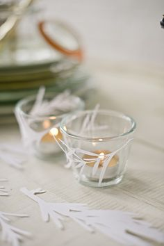 A beautiful DIY idea by Erica Loesing - rosemary papercuts// harwell photo