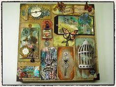 Simon Says Stamp Blog!: Jennifer McGuire & Tim Holtz Beyond Instruction with Creative Chaos!
