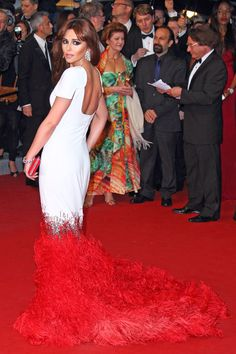 Cannes: Cheryl Cole in Stephane Rolland couture at the Armour premiere.