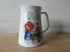 Figgjo Flint - Norge / Norway - pitcher - Folk motif - 1960s - midcentury