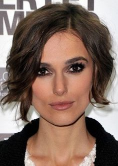 """8"""" Keira Knightley Excellent Short Wavy #2 Full Lace Wigs
