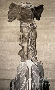 The Winged Victory Of Samothrace Marble Sculpture Of The Greek Goddess Nike Victory Painting - The Winged Victory Of Samothrace Marble Sculpture Of The Greek Goddess Nike Victory Fine Art Print Modern Sculpture, Sculpture Art, Victory Tattoo, Winged Victory Of Samothrace, Victoria, Art Inspo, Line Art, Fine Art Prints, Statue