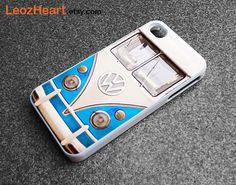 volkswagen iphone case, iphone 4s case, iphone 5 case, iPhone 6 case, phone case iphone 6, Retro volkswagen classic van iphone case,