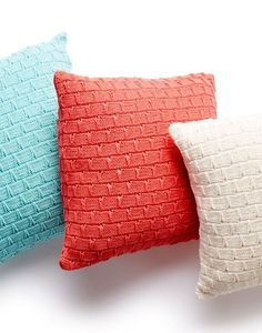 Free Knitting Pattern for Easy Pillow Trio