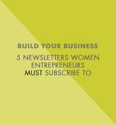 5 Newsletters For Women Entrepreneurs - Betty Red Design | Blog