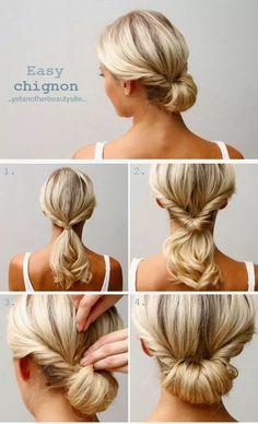 Chignon - Frisur-Ideen für mittellange Haare