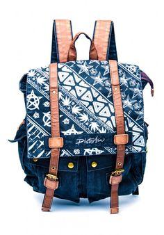Disturbia Symbols Backpack in black $44