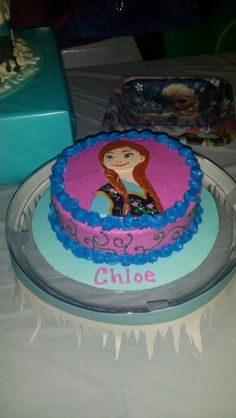 Chloe's Disney Frozen Ana Birthday Cake