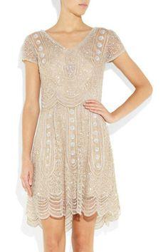 ANTIK BATIK Ilka sequined tulle dress - would love for rehearsal dinner 1920s Style Wedding Dresses, Bridal Style, Dress Wedding, Tulle Dress, Dress Up, Sequin Dress, 1920s Dress, Gatsby Dress, Wedding Rehearsal