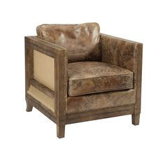 Sit back in chic style when you add this elegant arm chair to your home. Brimming with factory-worthy flair, this design showcases a club chair design for a touch of traditional style, while the worn leather upholstery and metallic nailhead trim imbue it with unexpected elegance. Try setting a pair of these lovely chairs in an empty corner of your living room, then pull up a metal table and a sleek floor lamp to craft a cozy and chic reading nook. Love hosting? Add this chair to your living…