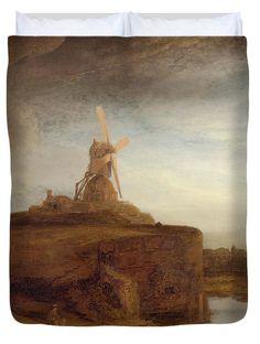 David Bridburg Duvet Cover featuring the digital art Rustic 9 Rembrandt by David Bridburg