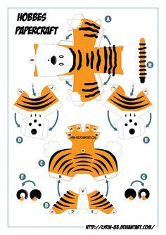 hobbes papercraft templat (of Calvin and Hobbes)