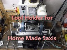 Making tool holder for home made 5 axis CNC mill - YouTube
