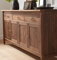 Buffet Cabinet, Sideboard Buffet, Credenza, Walnut Furniture, Furniture Design, Wine Rack Shelf, Walnut Sideboard, Dining Room Buffet, Cuisines Design
