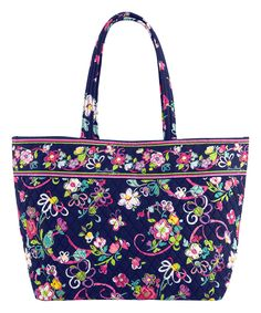 This Ribbons Grand Tote by Vera Bradley is perfect! #zulilyfinds