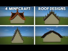 R E A D M E… Here are 4 minecraft roof designs that look harder than they are! Minecraft Roof, Minecraft Building Guide, Minecraft Structures, Minecraft Banners, Minecraft Houses Blueprints, Minecraft Plans, Minecraft Construction, Minecraft Decorations, Cool Minecraft Houses