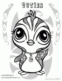 animal cuties coloring pages | came across these very cute character ...