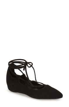 Jeffrey Campbell 'Atsuko' Ankle Tie Ballet Flat (Women) available at #Nordstrom