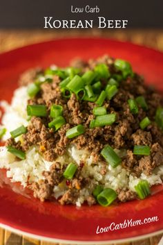 This low carb Korean beef recipe mixes sweet and spicy seasonings. It& a dish that can be cooked and served within 15 minutes. Paleo, Keto and Diabetic friendly! Korean Beef Recipes, Paleo Recipes, Low Carb Recipes, Cooking Recipes, Atkins Recipes, Korean Food, Dinner Recipes, Dessert Recipes, Paleo Ground Beef