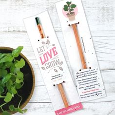 Sprout Pencil Wedding Favors With Basil Seed Paper Sprout Pencil With Basil Seed Paper Weddng Favors Handmade Wedding Favours, Edible Wedding Favors, Pencil Plant, Candle Favors, Seed Paper, Pencil And Paper, Paper Gifts, Craft Gifts, Seeds