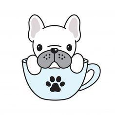 Dog Illustration, Illustrations, French Bulldog Drawing, French Bulldog Cartoon, Dog Vector, Cute Animal Drawings, Bulldog Puppies, Pet Shop, Cute Stickers