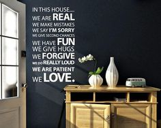 In This House Vinyl Wall Sticker / http://thegadgetflow.com/portfolio/in-this-house-vinyl-wall-sticker-80/