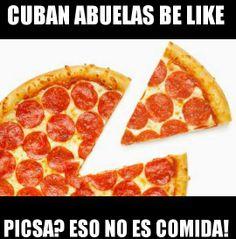 The all Italian/American Pizza Ingredient Pizza, Cuban Humor, Cubans Be Like, Viva Cuba, Cuban Culture, Love Pizza, Domino's Pizza, Pizza Dough, Cuban Recipes