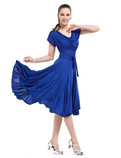 Ballroom Dancewear Viscose Modern Dance Dresse For Ladies More Colors - USD $ 39.19