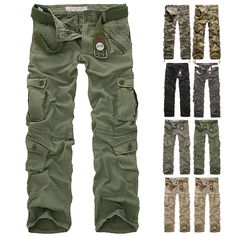 "NEW Black Military Style Combat  Cargo Utility Field Trousers Size 38/""-42/"""