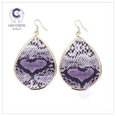 New: Snake Charmer Pattern Earrings - Chic & Sassy - 6 Colors!