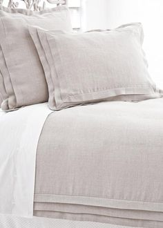 Idea for redoing duvet cover: Pine Cone Hill Pleated Linen duvet cover in Natural
