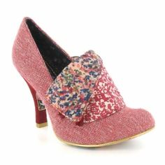 Irregular Choice Flick Flack 3614-3CE Womens Court Shoes - Red Tweed