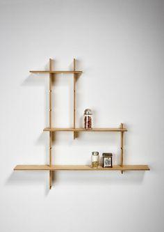 Phi 60 shelving system by jordi canudas Small Shelves, Floating Shelves, Decor Interior Design, Interior Design Living Room, Modular Bookshelves, Wooden Main Door Design, Modern Shelving, Diy Shelving, Living Room Shelves