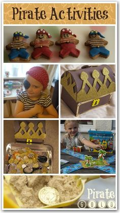 A round up of fun pirate activities for kids - quick and simple ideas to celebrate talk like a pirate day! Pirate Day, Pirate Birthday, Pirate Theme, Pirate Activities, Autumn Activities For Kids, Crafts For Kids, Pirate Preschool, Toddler Activities, Summer Camp Themes