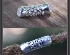 Sterling Silver Tube DREADLOCK BEAD