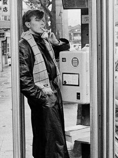 Bowie in a phone box - those were the days.