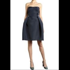 Carven cocktail dress Beautiful Navy cocktail dress. Can wear with straps or without. 🚫Pet & Smoke Free! Fits like a XS/S Carven Dresses Strapless