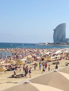 Barcelona Beach. This beach was so pretty!