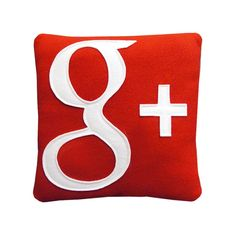 Google Plus Pillow by Craftsquatch on Etsy, $28.00
