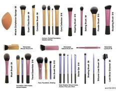Real Techniques Brushes and Sets - make_up_pintennium Eyeliner Make-up, Eyeliner For Big Eyes, Eyeshadow, Makeup Dupes, Skin Makeup, Makeup Cosmetics, Makeup Geek, Makeup Eraser, Make Up Kits