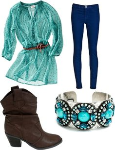"""""""cute cowgirl outfit"""" by iqib ❤ liked on Polyvore"""