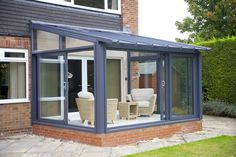 Discover a huge range of conservatories online from EYG - UK conservatory specialists since Small Conservatory Furniture, Conservatory Interiors, Lean To Conservatory, Conservatory Design, House Extension Plans, House Extension Design, Garden Room Extensions, House Extensions, Small Sunroom