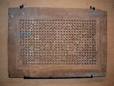 Jali hand pierced and carved sandstone window. From Jaipur, Rajasthan. Approximately 250 years old. Would make a perfect wall decoration or an actual window screen, fitted into a wall Hand Piercing, Window Screens, Jaipur, Wall Decor, Carving, Decoration, Wall Hanging Decor, Decor, Wood Carvings