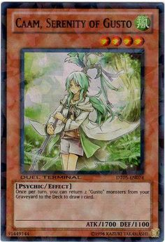 Yu-Gi-Oh! - Caam, Serenity of Gusto (DT05-EN074) - Duel Terminal 5 - 1st Edition - Super Rare