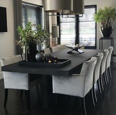 Other Pins like this -> Elegant Interior Design ∘ ∘ ゚ Dining Room Table Decor, Dining Room Sets, Dining Room Design, Living Room Decor, Luxury Dining Room, Dining Room Inspiration, Home Decor Kitchen, Home Interior Design, Home And Living