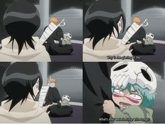 LOL, Nel was so cute with how she was jealous of Ichigo's relationship with Rukia!hahaha Kawaii #Bleach