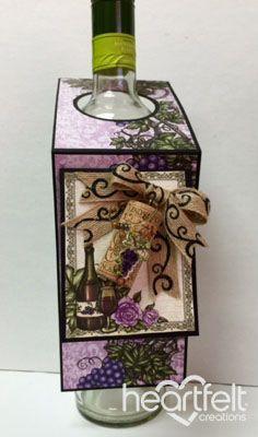 Heartfelt Creations | Italiana Riviera Wine Bottle Tag