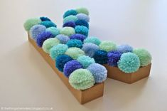 The Things She Makes: Pom Pom Letter | Cut Out + Keep