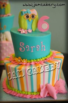 Owl Cake It even has my name on it - meant to be