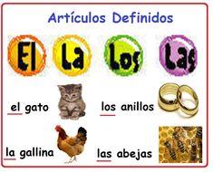 Artículos definidos Spanish Songs, Spanish Grammar, Spanish Vocabulary, Spanish 1, Grammar And Vocabulary, Spanish Lessons, How To Speak Spanish, French Lessons, Elementary Spanish